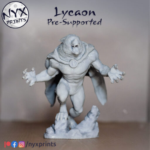 werewolf miniature for 3d printing