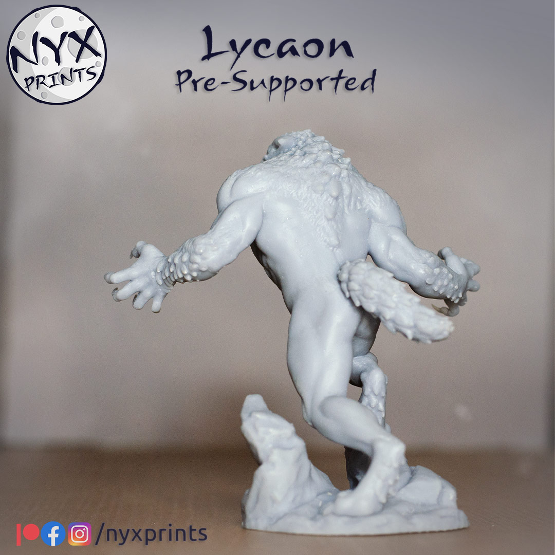 werewolf miniature for 3d printing