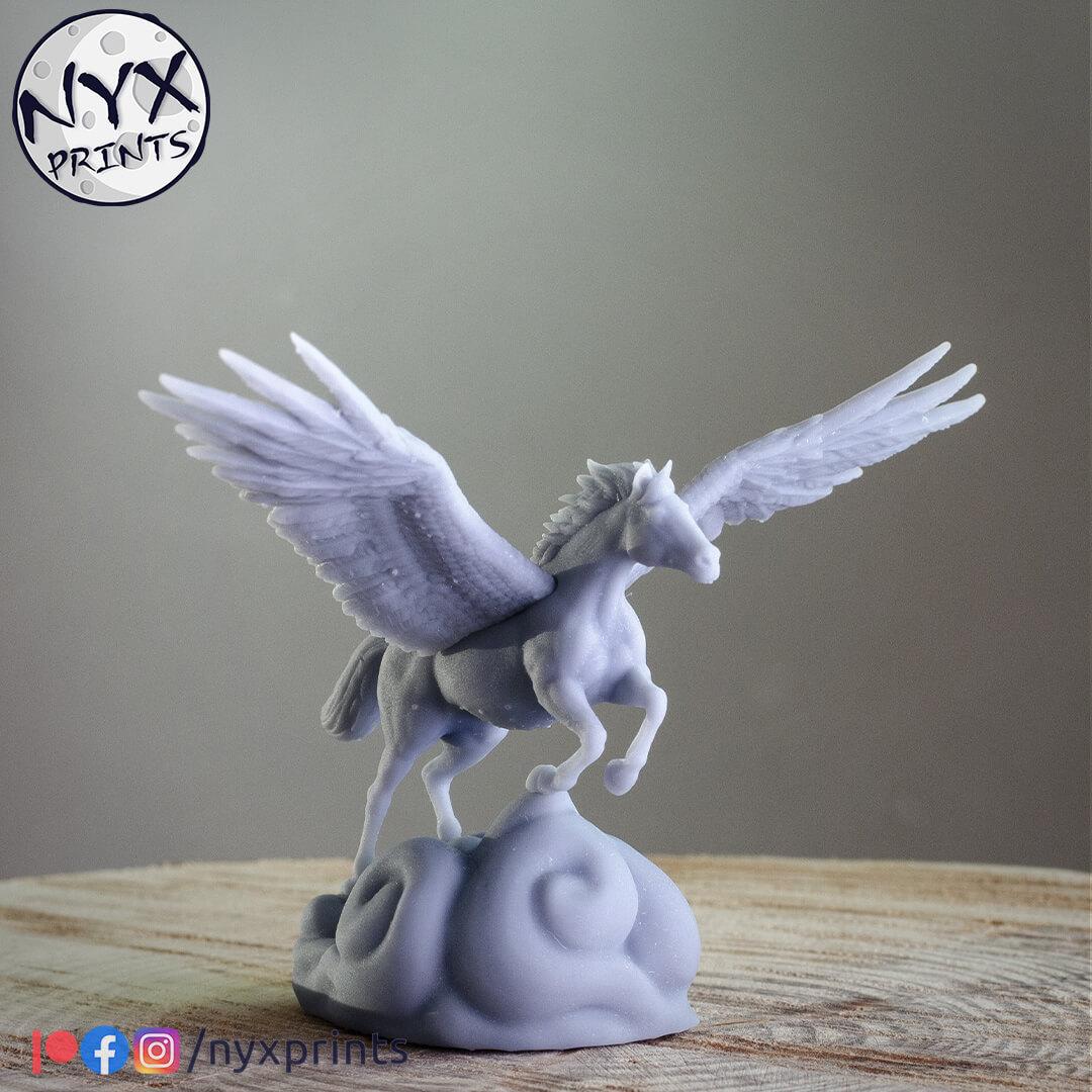 3d printed Pegasus. Pegasus miniature for dnd and tabletop games.