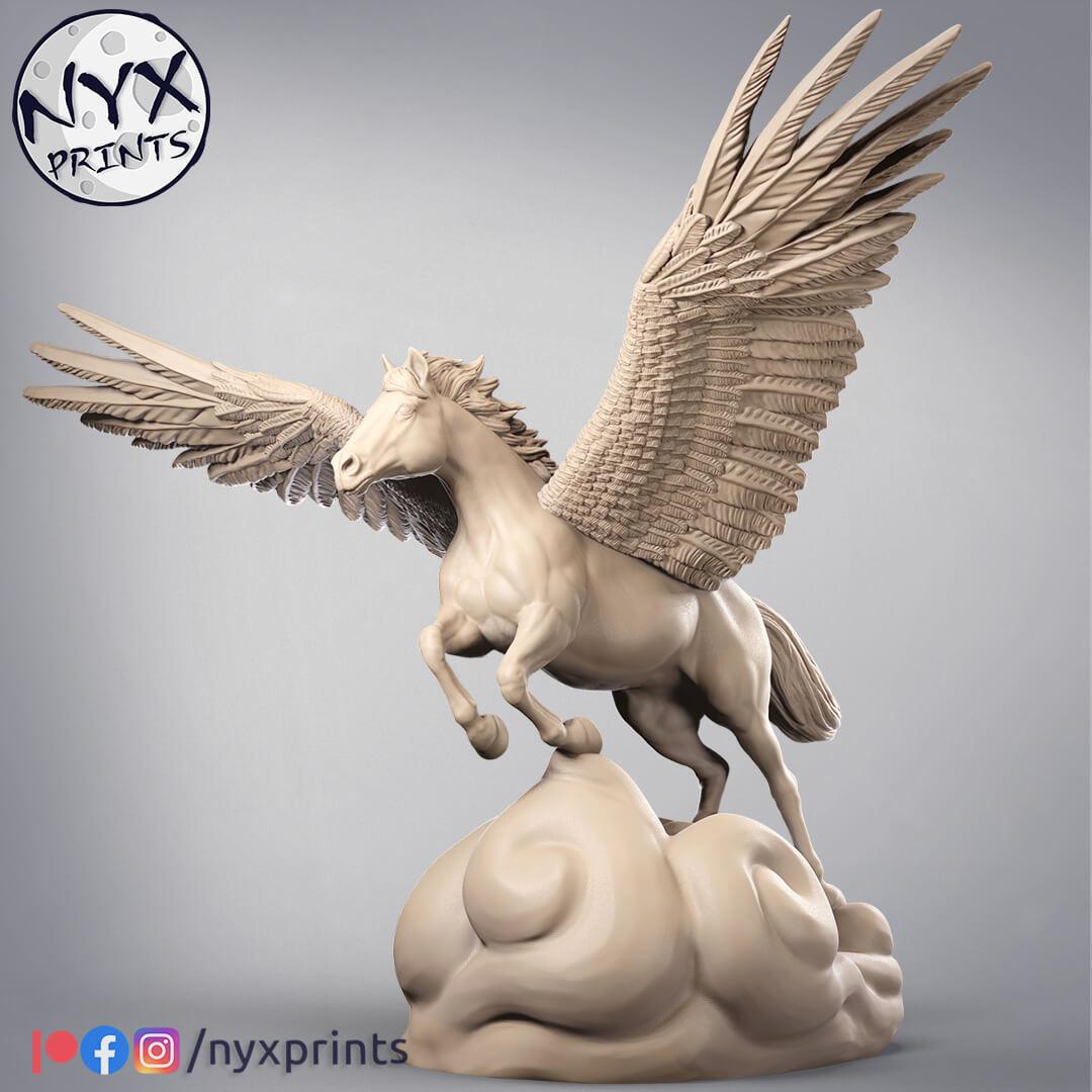 Pegasus stl for 3d printing.